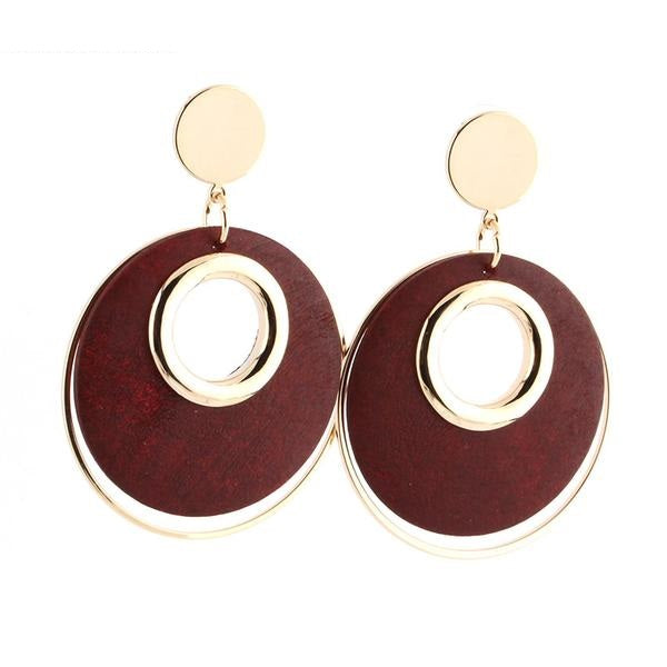 Stylish Large Round Earrings