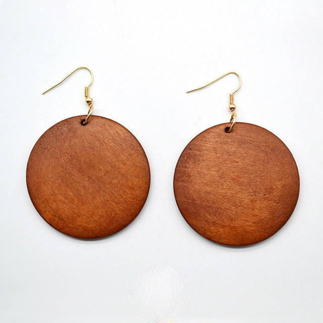 Trendy Wood Dangle Earrings