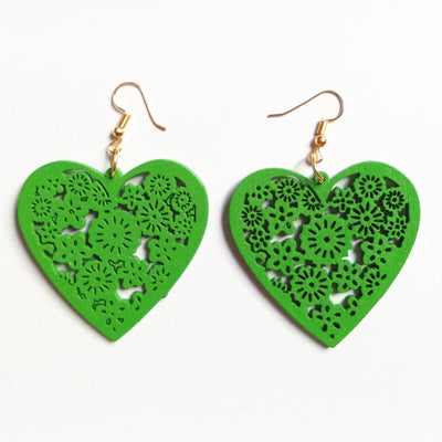Classy Heart Shaped Drop Earrings