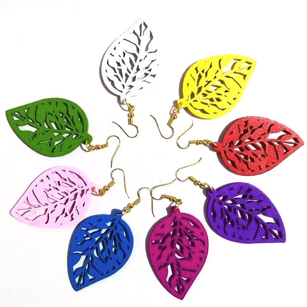 Fashionable Leaf Shape Drop Earrings