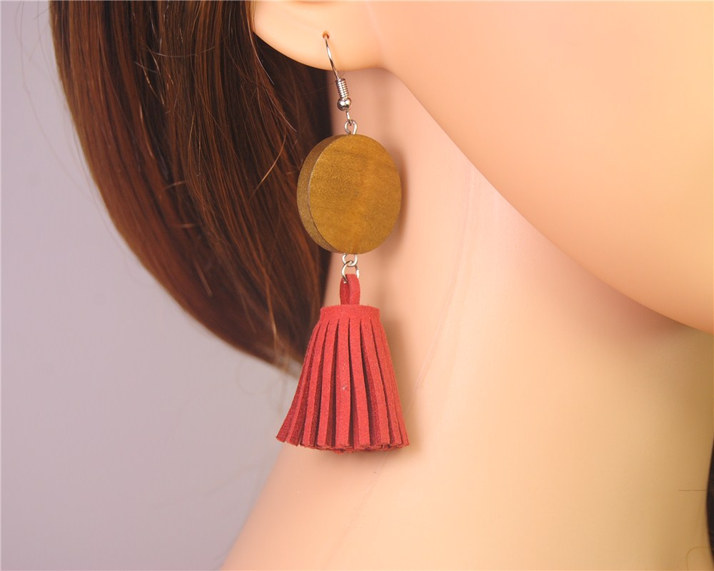 Stylish Wooden Drop Earrings