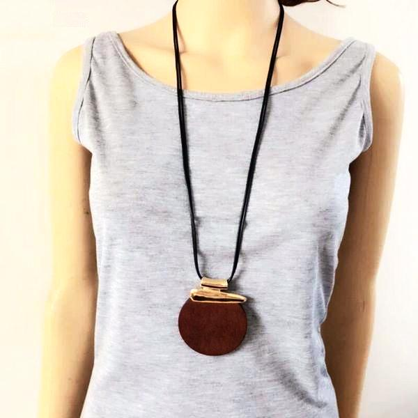 Ethnic Wood Necklace