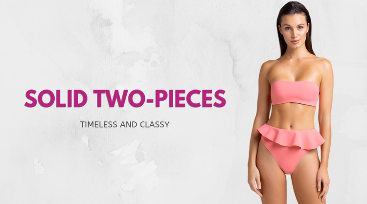 Solid Two-Pieces: Timeless and Classy