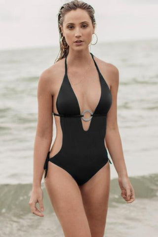 b7451aeb9d9 This Nina Black Monokini by Maylana Swimwear is amazing. It is sexy yet so  classy. Shows off the perfect amount of back and side boob with a super  chic ...