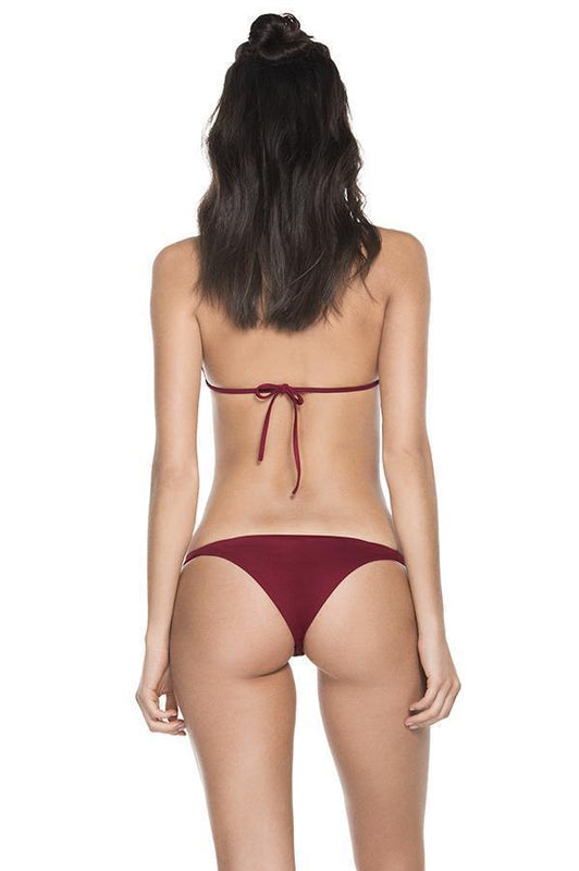 AGUA BENDITA Bendito Lolita Burgundy Top - Size Medium-OrchidBoutique