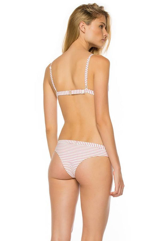 AGUA BENDITA Bendito Sunlight Anette hipster cheeky bottom features red stripes fabric