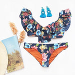 agua bendita 2020 hipster swimsuit floral bikini bottom