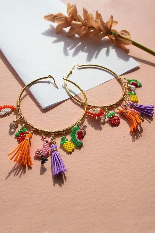 aurika accessories handcrafted stud beaded earrings
