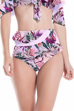 High waisted bikini with floral print by Boamar Swimwear