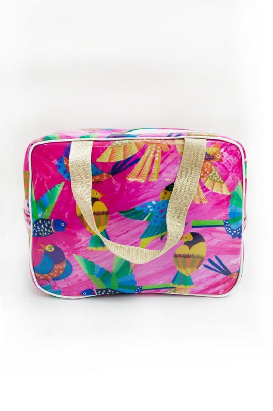 ceo activewear beach bag in tropical multicolored print
