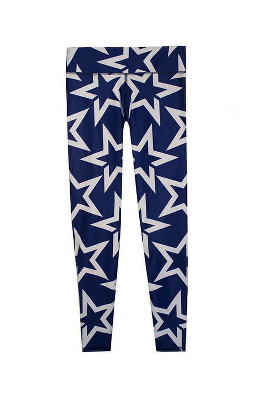 ceo sportwear navy blue leggings with grey stars