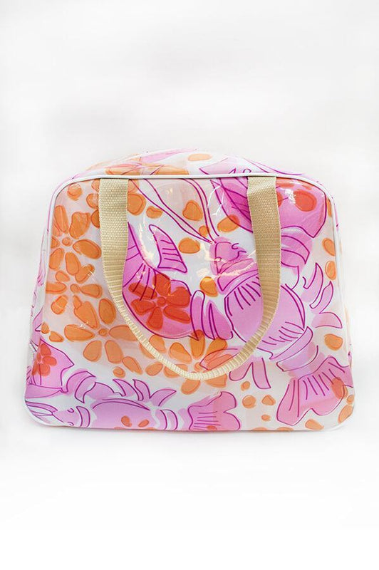 ceo activewear towel bag with tropical design