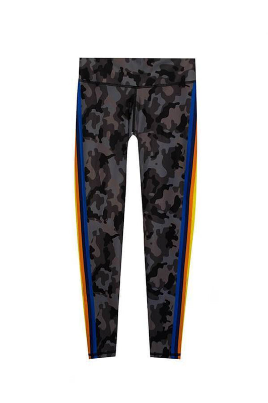 ceo sports wear military printed leggings with multicolored band at sides