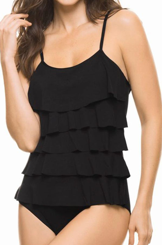 ESTIVO Basic Ruffle One Piece