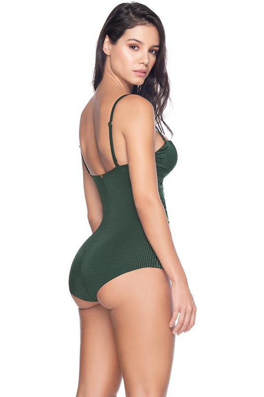ESTIVO Palm Noir Strapless One Piece
