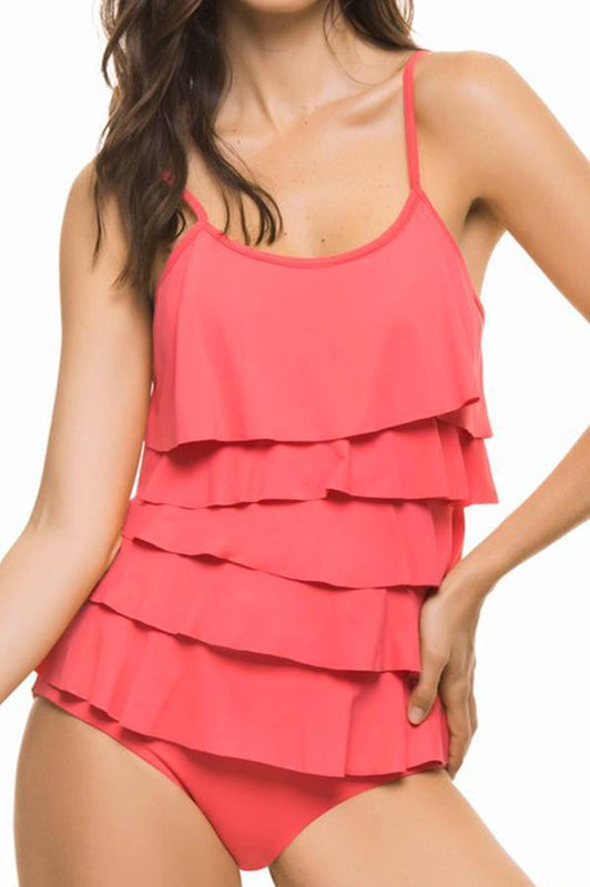 ESTIVO Pink Ruffle One Piece-OrchidBoutique