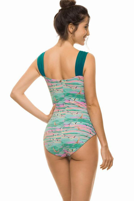ESTIVO Pink Skies Draping One Piece