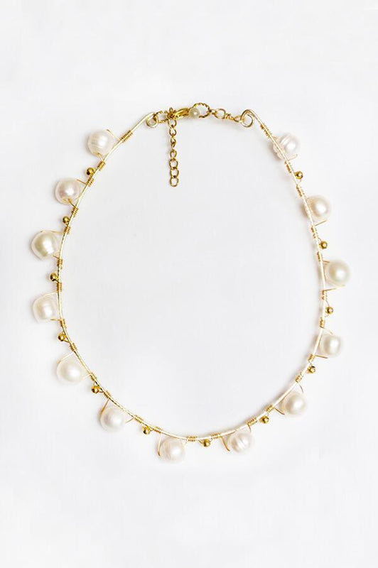 mag accessories pearly chocker necklace