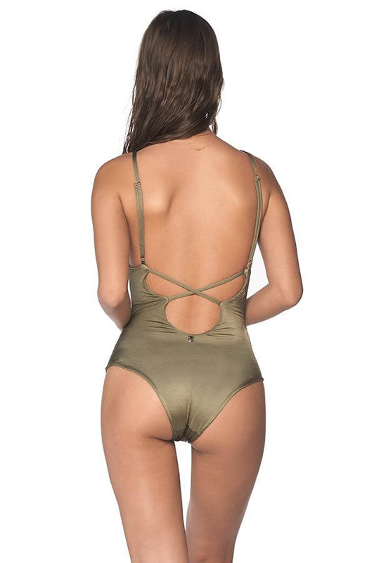 MALAI African Dream Sparkly Green One Piece