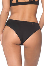 MALAI Black Ruched Side Bottom