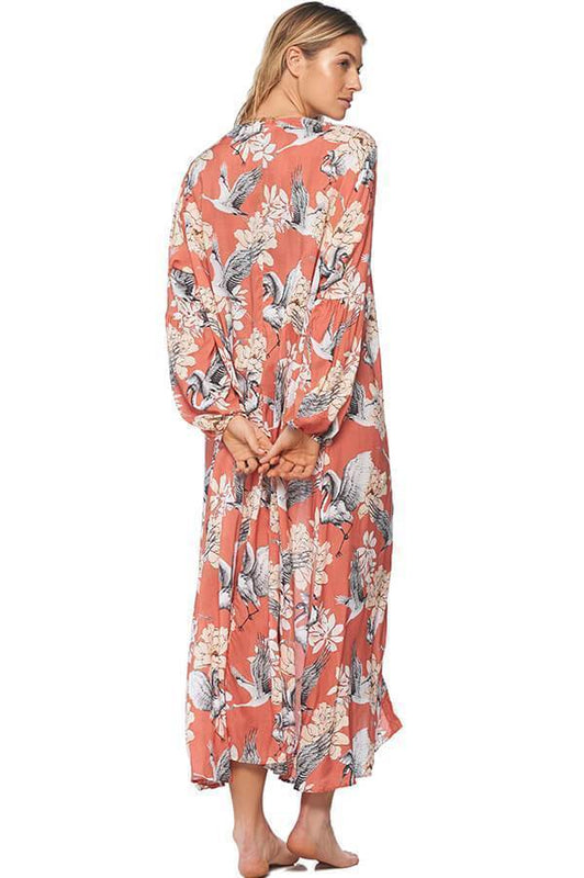 MALAI British Egret Sun Valley Dress - Size M/L