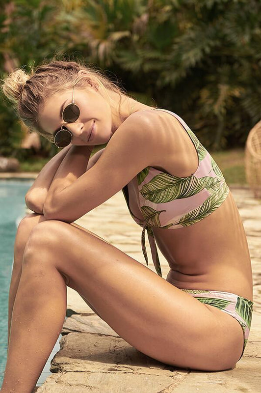 malai 2019 padded bikini top two piece swimsuit tropical bralette top