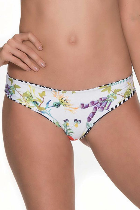 MALAI Flowery Ruched Bottom