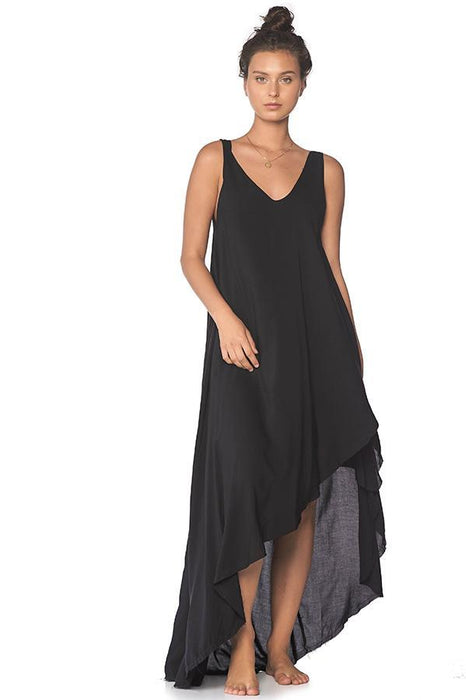 Malai maxi black beach dress long cover up