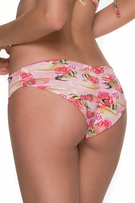 MALAI Peppy Pez Ruched Bottom-OrchidBoutique