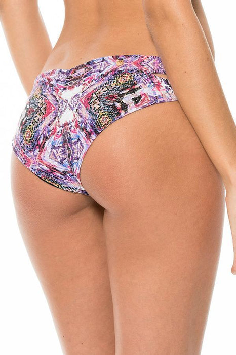 MALAI Pixel Piton Ruched Bottom-OrchidBoutique