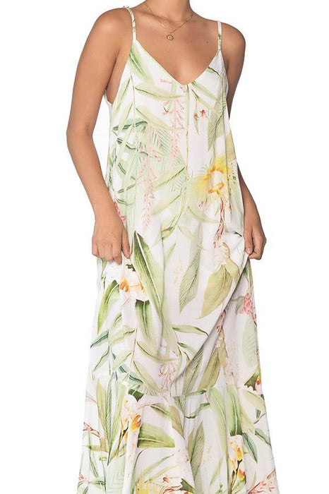 MALAI Silent Vegflor Maxi Dress