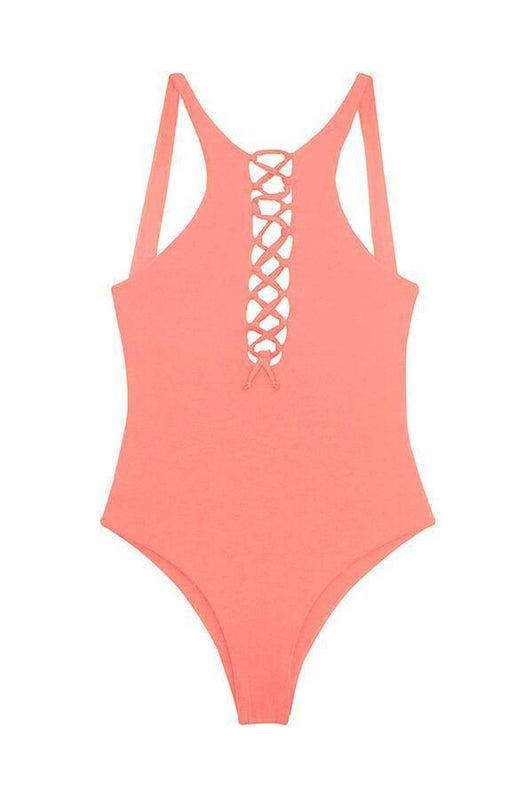 MAYLANA Ace Peach One Piece-OrchidBoutique