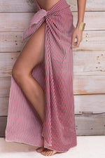 MAYLANA Akila Red Stripes Pareo - One Size-OrchidBoutique