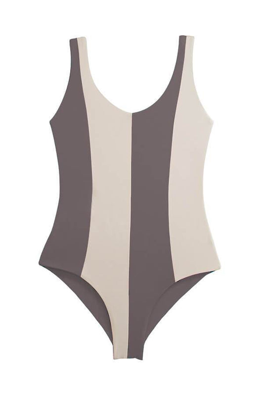 One piece swimsuit with moderate coverage by Maylana Swimwear