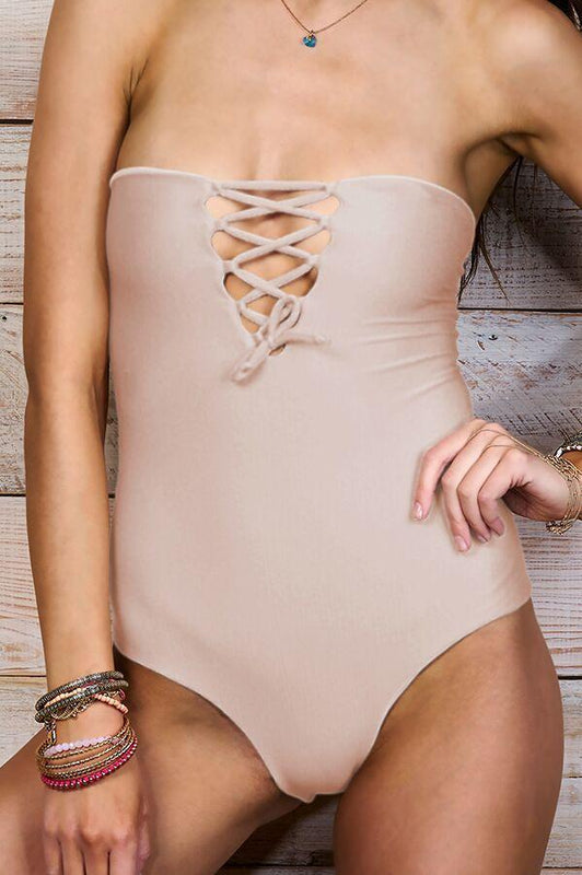 MAYLANA Ava Beige One Piece-OrchidBoutique
