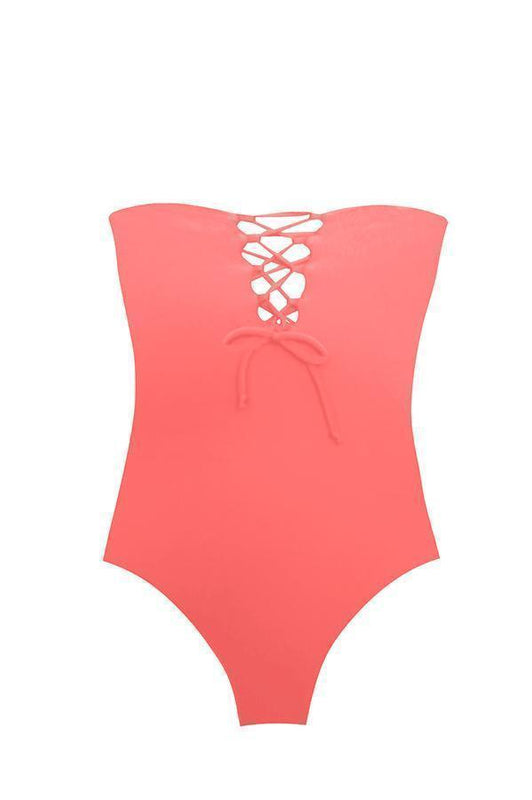 MAYLANA Ava Peach One Piece - Size Medium-OrchidBoutique