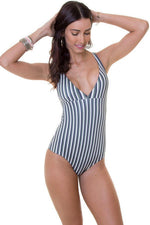 MAYLANA Collins Autumn Stripes One Piece