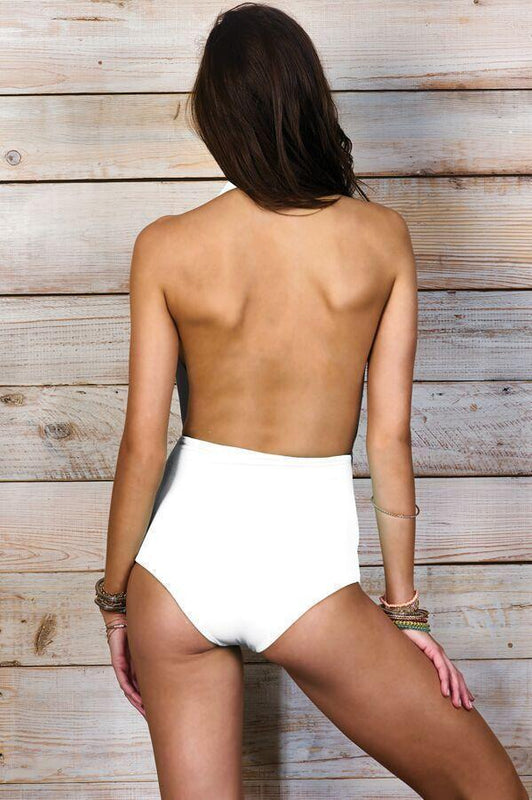 MAYLANA Dani White One Piece-OrchidBoutique