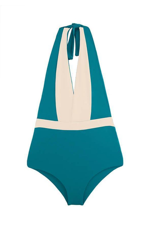 high waisted one piece by Maylana Swimwear