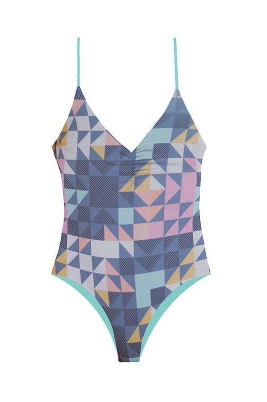 Maylana one piece provides multi-straps detailing at sides with moderate coverage