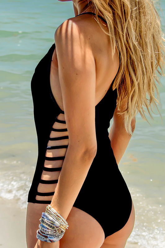 MAYLANA Fefe Black One Piece - Size Small-OrchidBoutique
