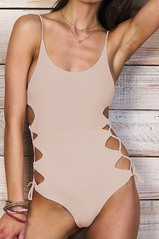 MAYLANA Giana Beige One Piece-OrchidBoutique
