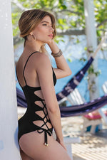 MAYLANA Giana Black One Piece - Size Small-OrchidBoutique