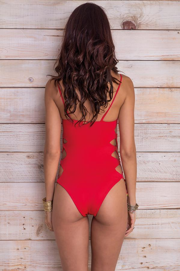 MAYLANA Giana Cherry Red One Piece