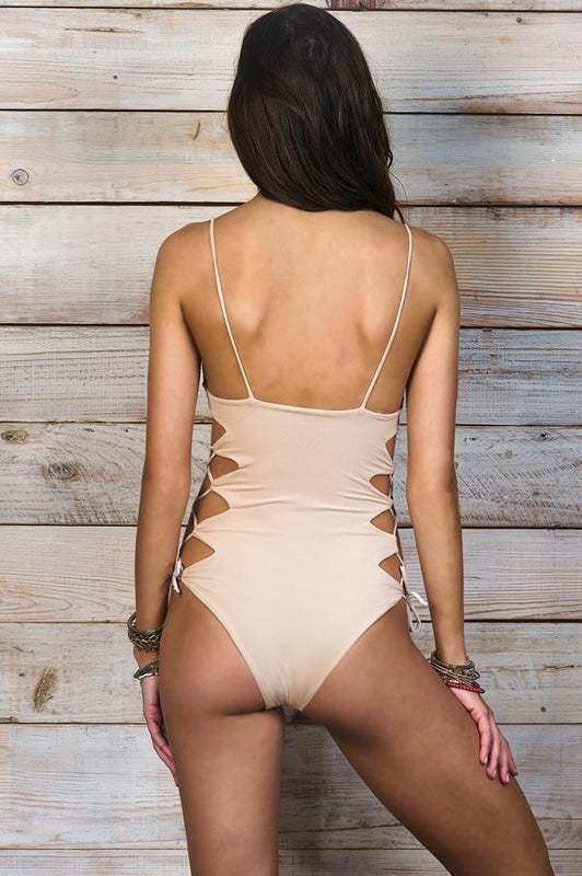 MAYLANA Giana White Beige One Piece-OrchidBoutique