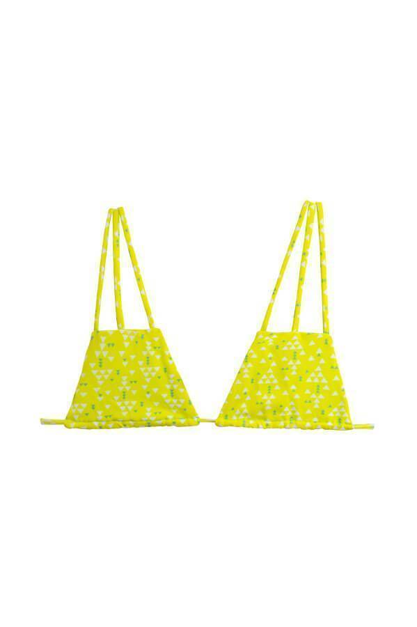MAYLANA Imani Yellow Triangles Top