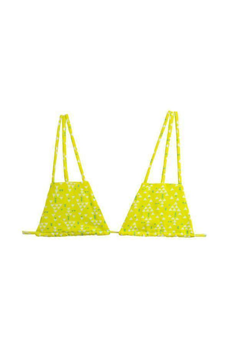 MAYLANA Imani Yellow Triangles Top-OrchidBoutique