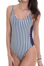 MAYLANA Jess Autumn Stripes One Piece-OrchidBoutique