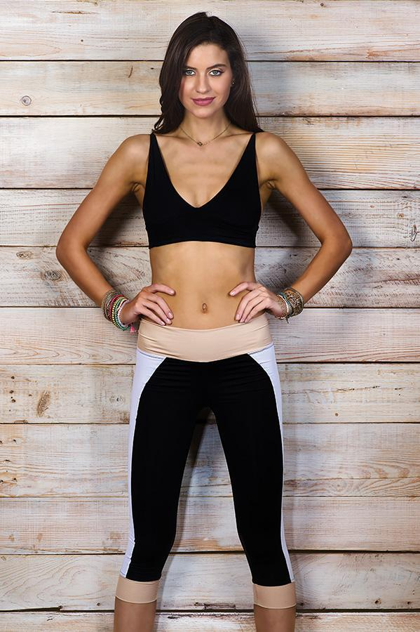 MAYLANA Jude Multi Black Leggings