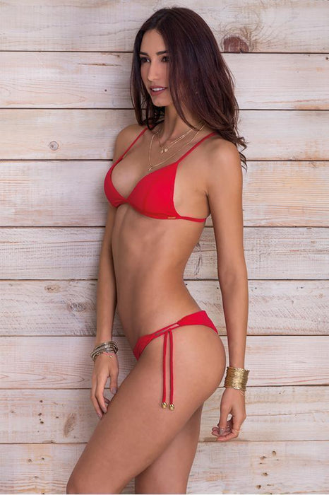 MAYLANA Kai Cherry Red Top-OrchidBoutique
